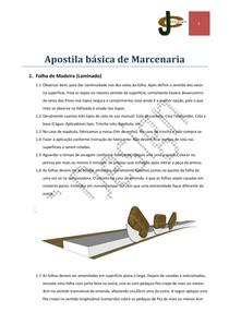 Apostila básica de Marcenaria