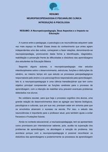 Neuropsicopedagogia Teoria