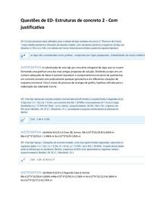 Questões de ED 11 ao 20 com JUSTIFICATIVA