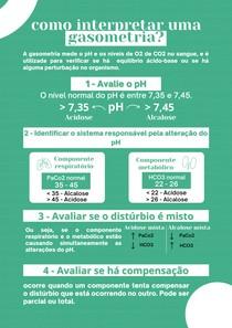 Roteiro de interpretação de gasometria arterial