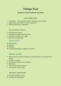 Patologia Bucal - Leucoplasias