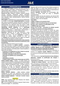 6 - FISIOPATOLOGIA DO AVE, DIAGNOSTICO E PLASTICIDADE NEURAL