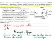 Resolução de duas questões de termodinâmica