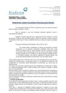 OAB PROCESSO PENAL 1ª FASE
