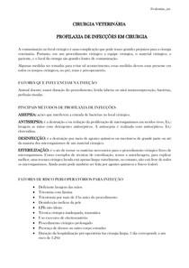 PROFILAXIA DE INFECÇÕES EM CIRURGIA