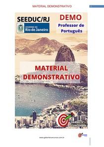 Professor de Português - Material Demonstrativo- Concurso SEEDUC/RJ
