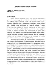 TRABALHO DE FISIOPATOLOGIA II