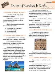 Processos formadores de rocha