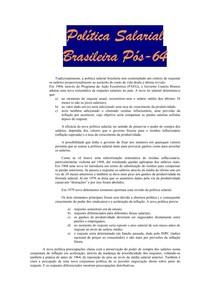 Política Salárial Brasileira pós-64 (fichamento)