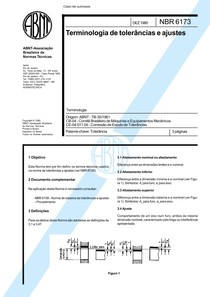 NBR 06173 TB 35   Terminologia de Tolerancias e Ajustes
