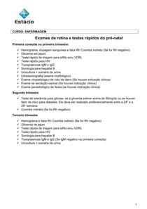 prenatal exames