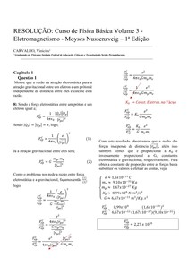RESOLUÇÃO: Curso de física básica 3 (H. Moysés NuNussenzveig) - Capitulo 2 - Questão 1