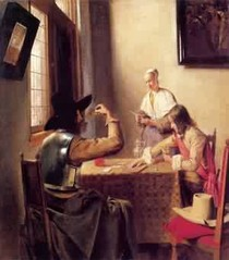 Pieter de Hooch -Soldiers Playing Cards