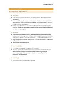 Sistema respiratório - Mannheeimiose pneuomonica