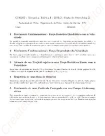 Mecânica Teórica I - Lista 2
