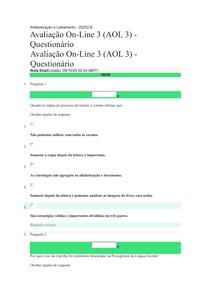 AOL3 Alfabetização e Letramento