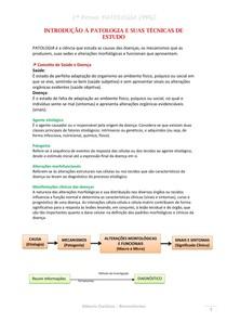 RESUMO - Introdução à Patologia (completo) 1ª PROVA
