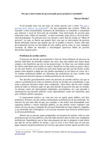 Marcos Mendes - Falhas de Governo
