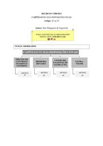 Decreto 7.508/2011 [esquematizado]   Aula 06: cap. VI, Das Disposições Finais (art. 42 ao 45)