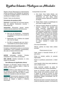 Registros Oclusais e Montagem em Articulador
