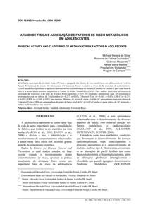 ATIVIDADE FÍSICA E AGREGAÇÃO DE FATORES DE RISCO METABÓLICOS EM ADOLESCENTES