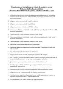 Questões - TGE II - 1ª Prova