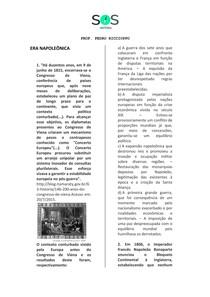 SOS História - Era Napoleônica