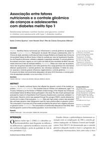 Artigo - Associação entre fatores nutricionais e o controle glicêmico de crianças e adolescentes com diabetes melito tipo 1