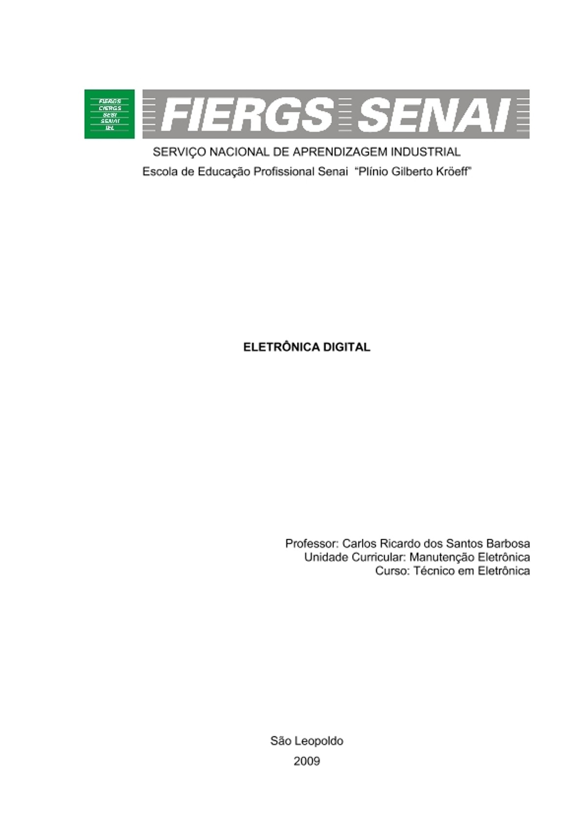 Pre-visualização do material apostila eletronica digital - página 1