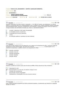 Av 2 - Gestao e legislação ambiental
