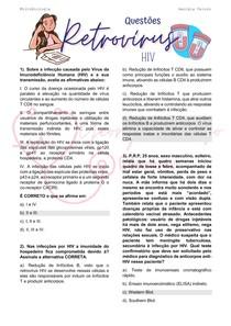 Exercício retrovírus - HIV (AIDS) (questões)