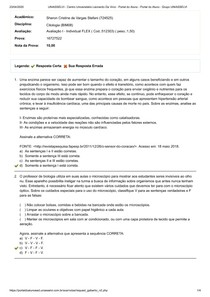 AVALIAÇÃO I CITOLOGIA UNIASSELVI FLEX