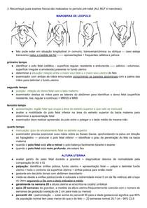 Semiologia Altura Uterina, Batimentos Cardíacos Fetais e Manobras de Leopold