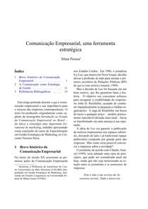 Artigo - Comunicação Empresarial  uma ferramenta Estratégica