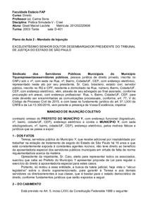 Peças Remédios Constitucionais AV1