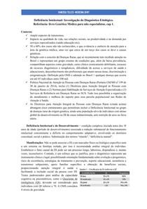 Deficiência Intelectual: aspectos gerais e etiológicos