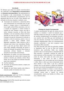 FARMACOLOGIA DA JUNÇÃO NEUROMUSCULAR