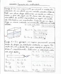 Exercícios Respondidos - Equação da Continuidade