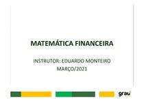 MATEMÁTICA FINANCEIRA - AULA 03