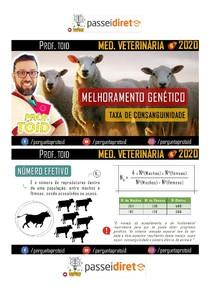 PD - TAXA DE CONSANGUINIDADE - MED VETERINÁRIA - PROF TOID