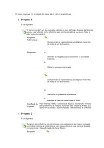 exercicicio e tele aula II - ANTROPOLOGIA E CULTURA BRASILEIRA
