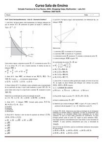 SE 2019 - Aula 32 - Geometria Analítica I