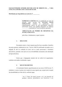 Modelo De Impugnação A Jg Justiça Gratuita Prática Jurídic