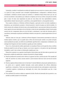 HEMISSECÇÃO COMPLETA MEDULAR