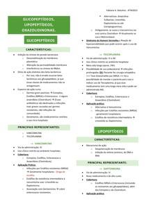 06 - GLICOPEPTÍDEOS, LIPOPEPTÍDEOS, OXAZOLIDINONAS