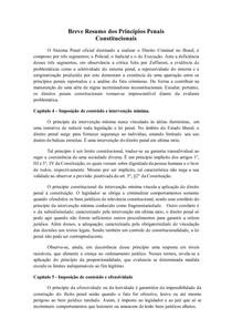 RESUMO | Princípios Penais Constitucionais