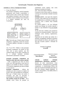 Constituição Tributária dos Negócios