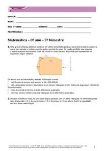 Matemática 8º ano 3º Bim