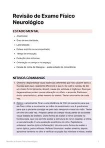 Revisão de Exame Físico Neurológico