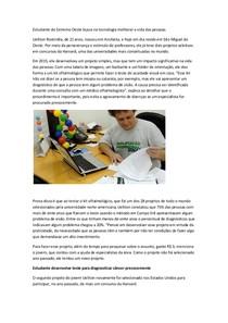 Potifólio   Estudante do Extremo Oeste busca na tecnologia melhorar a vida das pessoas